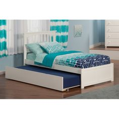Features:  -With flat panel footboard.  -Accepts bed drawers or trundle bed…