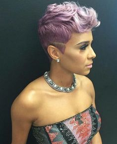20 Easy, Everyday Hairstyles For Black Women - Hairstyles & Haircuts for Men & Women Afro Hair Style, Curly Hair Styles, Natural Hair Styles, Short Sassy Hair, Short Hair Cuts, Pixie Cuts, Everyday Hairstyles, Pixie Hairstyles, Black Pixie Haircut