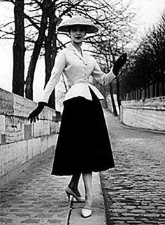 Christian Dior -- (House of Dior was launched in February 1947).