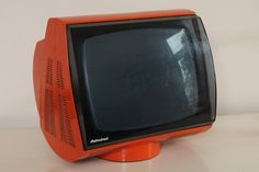 Vintage Space Age Funky Orange Television made by ADMIRAL  1970's Italy, Eames, Panton era. €159.00, via Etsy.