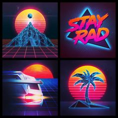 80's inspired by James White of Signalnoise studios