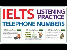 This IELTS practice video is to help you improve your listening skills regarding telephone numbers in English. You will hear 20 telephones numbers. Ielts Listening, Listening Skills, Woodward English, How To Pronounce, English Vocabulary Words, Telephone Number, English Language, Improve Yourself, Numbers