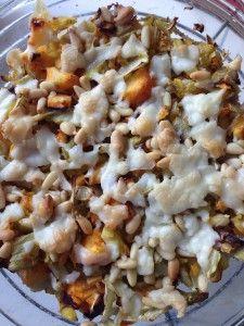 ovenschotel van wortels en geitenkaas