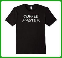 Mens Coffee Master T-shirt- Funny Tee Shirt 3XL Black - Food and drink shirts (*Amazon Partner-Link)