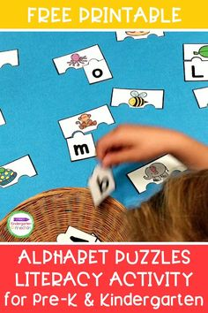 We are always hard at work learning the alphabet in Pre-K and Kindergarten, so you'll love these FREE ABC Puzzles literacy activity too! These printable puzzles are hands-on, engaging, and a great activity to use in small groups, literacy centers, or for independent letter practice all year long! Literacy Skills, Kindergarten Literacy, Literacy Activities, Literacy Centers, Printable Puzzles, Free Printables, Learning The Alphabet, Small Groups, Student
