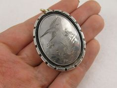 Antique Victorian Silver 'Birds & Butterflies' Silver & 9ct Gold from blackwicks on Ruby Lane
