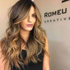 Cabelo Castanho iluminado 2017 cores de cabelo tipos de cabelo castanho castanho bege castanho mel tendência cabelo 2017
