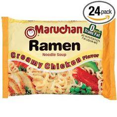 Maruchan Ramen, Creamy Chicken, 3-Ounce Packages (Pack of 24), (ramen, snack food)