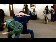Rules to this game: 2 people must face back to back. A ball will be placed in between them. Hands must be on the head at all time. Both people must simultaneously move from point A to point B without dropping the ball. It is a race against other people. The first group that get's to point B with the ball still in between them wins. If the ball ...