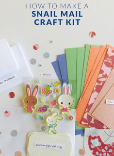SNAIL MAIL CRAFT KIT!  I love sending (and receiving!) good old-fashioned snail mail. Though life moves at lightning speed these days with our access to email, texts, and tweets, I've noticed that there is a growing movement of people who long for real mail in their mailboxes.
