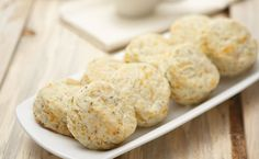 Cheddar, Herb & Garlic Biscuits - Warm, homemade biscuits add a comforting touch to any family dinner. by blanche Epicure Recipes, Cooking Recipes, Muffins, Homemade Biscuits, Specialty Foods, Side Dishes Easy, Clean Recipes, Food Dishes, Love Food