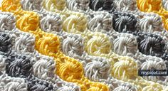 New ideas crochet stitches unique Crochet Afghan Stitch, Picot Crochet, Crochet Gratis, Tunisian Crochet, Granny Square Häkelanleitung, Granny Square Crochet Pattern, Crochet Stitches Patterns, Crochet Designs, Stitch Patterns