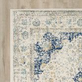 Found it at Wayfair - Ferry Ivory/Blue Area Rug Living Room Carpet, Rugs In Living Room, Room Rugs, Dining Rooms, Circular Rugs, Oriental, Magic Carpet, Red Carpet, Rug Sale