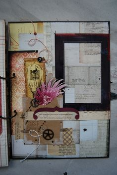 Beautiful - splatters, metal, sewing - great pages in link