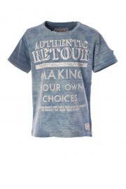 Retour  Jeans T-shirt km, witte print . Te koop bij www.koflo.nl