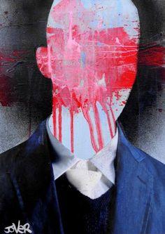 "Saatchi Art Artist Loui Jover; Collage, ""portrait of an obscure man"" #art"