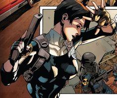 In the comic book - Maria Hill Comic Movies, Comic Books, Comic Art, Spiderman Girl, Secret Warriors, Maria Hill, Feminist Men, Todays Comics, Marvels Agents Of Shield