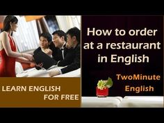 How to order at a restaurant in English - Restaurant Conversation Lesson - Restaurant English - YouTube