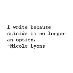 I write because #nicolelyons #nicolelyonspoetry #poetry #poem #poetsofinstagram #poetsofig #instapoetry #poetrycommunity #communityofpoets #poemoftheday #poetic #prose #poetryisnotdead #poetsociety #drunkpoetsociety #words #wordsmith #written #creativewriting #artist #authentic #bestoftheday #instalike #mywords #quote #truth #real #life #live #self
