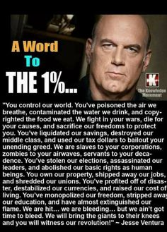 Jesse Ventura former Governor of Minnesota Now Quotes, True Quotes, Scary Quotes, Epic Quotes, Quotable Quotes, Truth Hurts, It Hurts, Hard Truth, Political Quotes