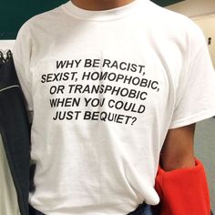 """""""JUST BE QUIET"""" SHIRT – so aesthetic"""