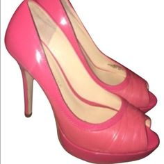 Coral peep toe heels Audrey Brooke coral peep toe pumps.  Perfect for a pop of color. In great condition. Small scuffs on bottom of heels. (Pictured). Approximately 4 inch heels.  🎊💥🎉💕😍Check out my closet for more great deals,😍💕🎉💥🎉CLOSET RULES: ❌No lowball offers.   ❌No trades.  ❌No offline transactions.     ✔️Reasonable offers. ✔️Suggested User. ✔️5 star rated ✔️Next day shipping ✔️Bundle discounts Audrey Brooke Shoes Heels