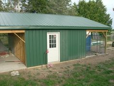 Kennel ideas on pinterest dog kennels whelping box and for Carport dog kennels
