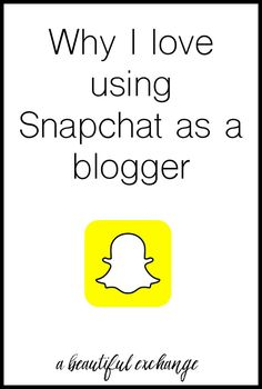 I love this insight on how Snapchat can work really well for bloggers!
