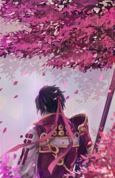 It turned out dark background is beyond my skill…so, I still don't know how to draw night scene…. Sengoku Musou, Sengoku Basara, Warriors Game, Dynasty Warriors, Fantasy Warrior, Fantasy Rpg, Samurai Warriors 4 Characters, Sanada Yukimura, Game Art