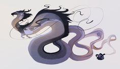 Earl grey tea dragon (open) by oukamiyoukai45.deviantart.com on @DeviantArt