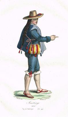 Santiago - Métis - Voyage en Amérique - Tome I page 297 - Histoire pittoresque des voyages par L.-E. Hatin - 1844 - MAS Estampes Anciennes - Antique Prints