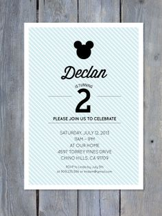 Mickey Mouse Birthday Invitation by Sweet Scarlet Designs