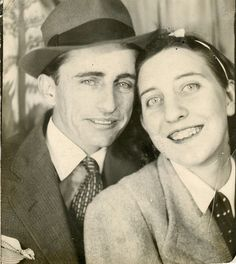 vintage photobooth: young grandpa glenn and a girlfriend by deflam, via Flickr
