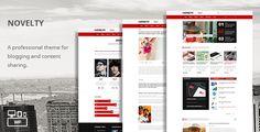 Novelty - Content Sharing WordPress Theme - Entertainment