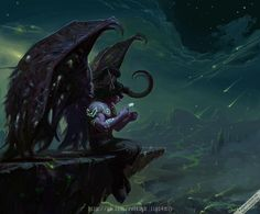 Even in the darkness of Outland, Illidan still longs for Tyrande's love...