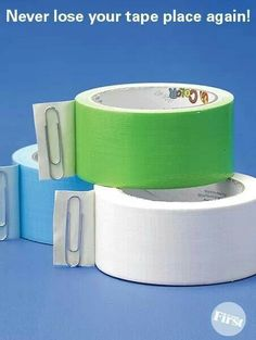 Clever. Never lose your tape end again!