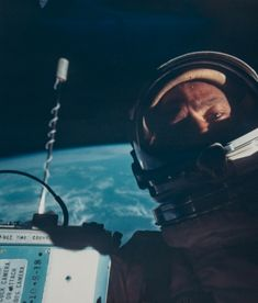 From the Earth to the Moon: Vintage NASA Photographs A selection of prints from a previously unseen private collection of vintage photographs by Nasa's pioneering astronauts, taken in space and on the Moon, are currently on exhibition in London at Mallett Antiques. Among the images under the hammer is the first 'selfie' ever taken in space (above). Buzz Aldrin took the photo during the Gemini 12 mission in November 1966.