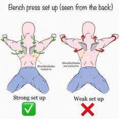 Bench Press Set Up Seen From The Back! Best Monday Tips #benchpressweighttraining