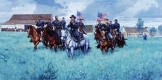 Coming Rain by Dale Gallon: General Buford at Gettysburg, July 1, 1863