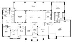 Riverview 48 - Acreage Level - Floorplan by Kurmond Homes - New Home Builders Sydney NSW Luxury House Plans, Dream House Plans, Modern House Plans, House Floor Plans, The Plan, How To Plan, Acerage Homes, House Plans Australia, Melbourne House