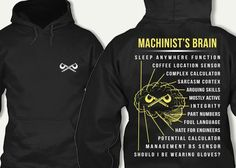 Brain Sleep, Printed Shirts, Tee Shirts, Machinist Tools, Workplace Safety, Funny Thoughts, Work Humor, Metal Working, Marketing