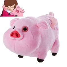 Cartoon TV Movie Gravity Falls Plush Toy Dipper Mabel Pink Pig Waddles Stuffed Soft Dolls Kids Birthday Gifts Wholesale