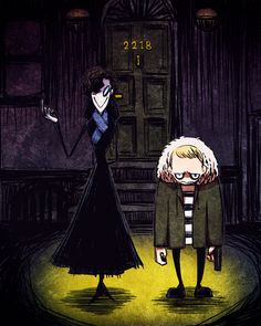 Sherlock & John - Tim Burton Style