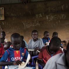 A child-friendly space in a village on a small island in South Sudan where children can play take school lessons and feel secure. Chuol center joined some 80000 other displaced people on the island after fleeing his home when fighters swept into his village. @lynseyaddario photographed the 9-year-old for #NYTMag. Chuol bought me a chicken saying that he wanted me to have a nice meal on my last night @lynseyaddario told #NYTMag. It was the most thoughtful gift  one that Ill never forget. To…