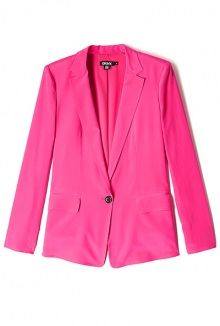 Punch Pink Silk Jacket by DKNY
