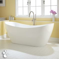 "72"" Sheba Acrylic Freestanding Double-Slipper Air Tub - Acrylic Tubs - Bathtubs - Bathroom"