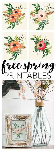 Four FREE Poppy printables perfect for spring! www.littlehouseoffour.com