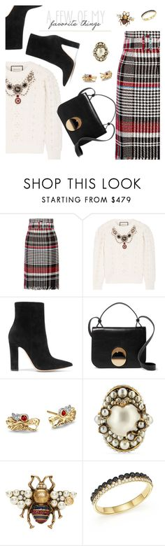 """""""Outfit of the Day"""" by dressedbyrose ❤ liked on Polyvore featuring Oscar de la Renta, Gucci, Gianvito Rossi, Marni, John Hardy, Bloomingdale's, ootd and polyvoreeditorial"""