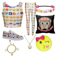 """Emoji everything!!!"" by minion2006lover on Polyvore featuring Vlado and Kate Spade"