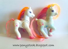 Light Heart (with Canopy Bed) & Lady Light Heart (Royal Lady Ponies) G2 My Little Pony Hasbro Vintage